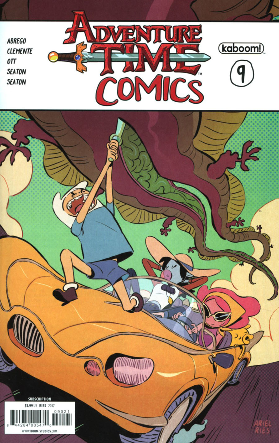Adventure Time Comics #9 Cover B Variant Ariel Ries Subscription Cover