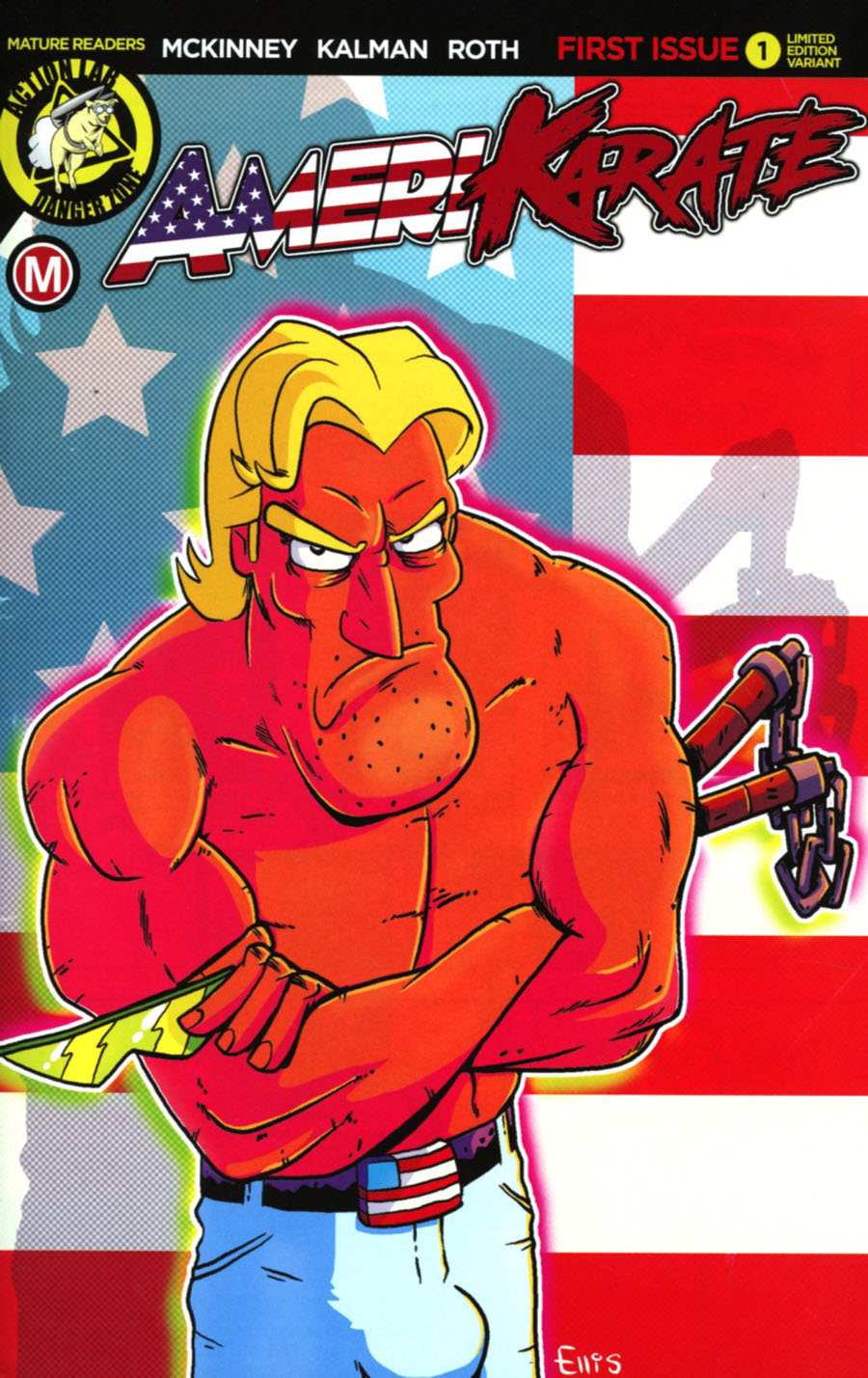 Amerikarate #1 Cover C Variant Sam Ellis Deathstare Cover