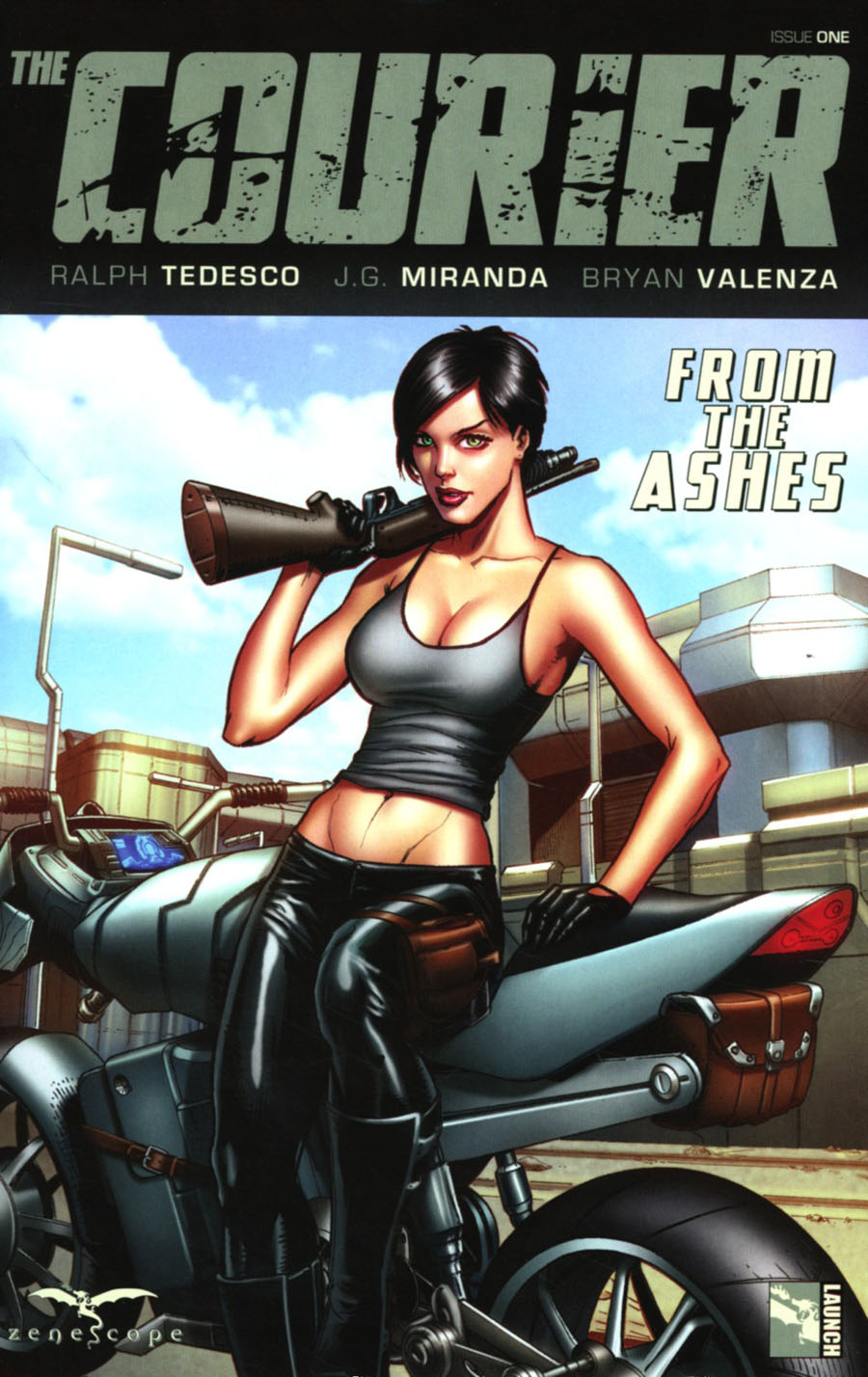 Courier From The Ashes #1 Cover C Anthony Spay