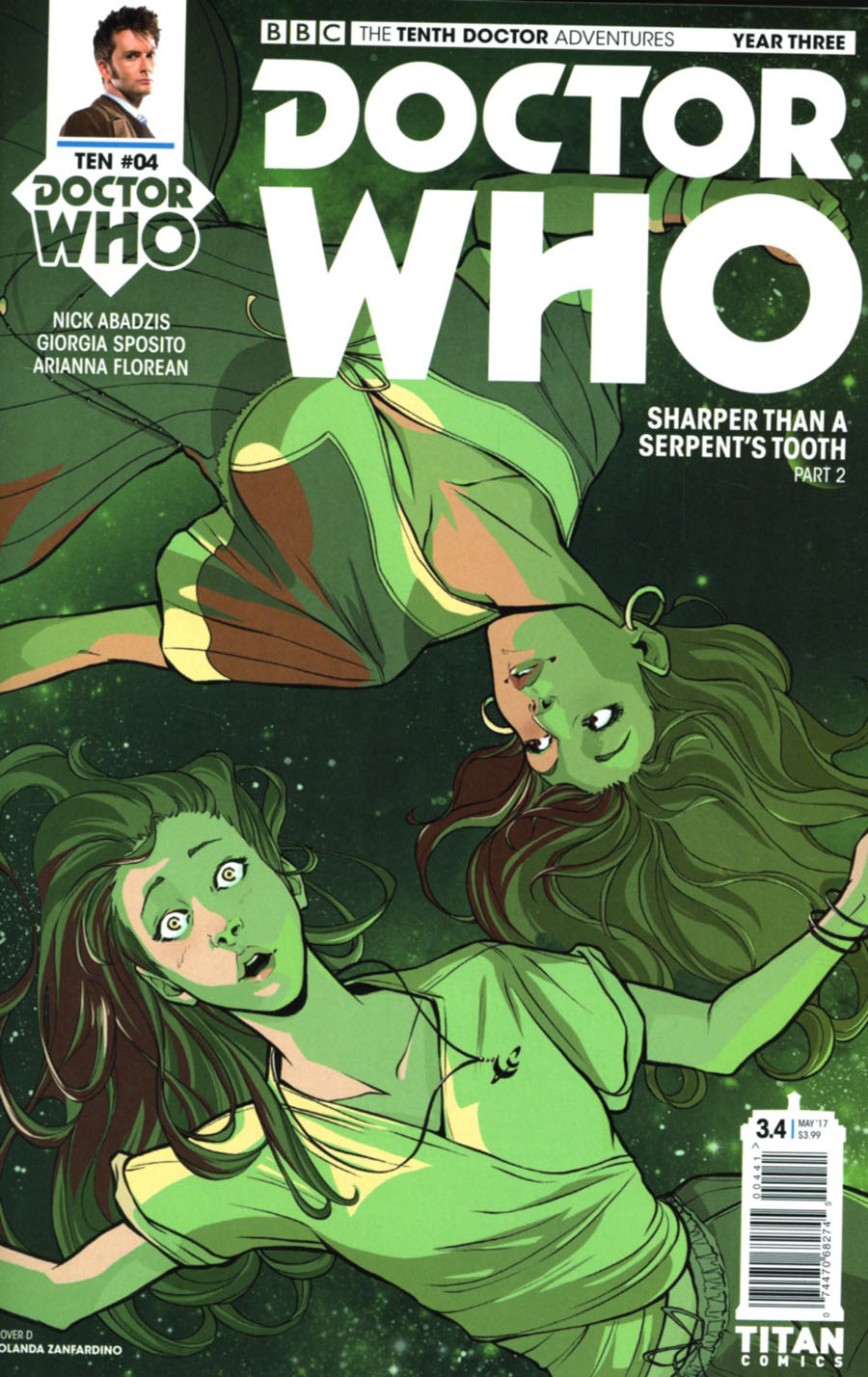 Doctor Who 10th Doctor Year Three #4 Cover D Variant Iolanda Zanfardino Cover