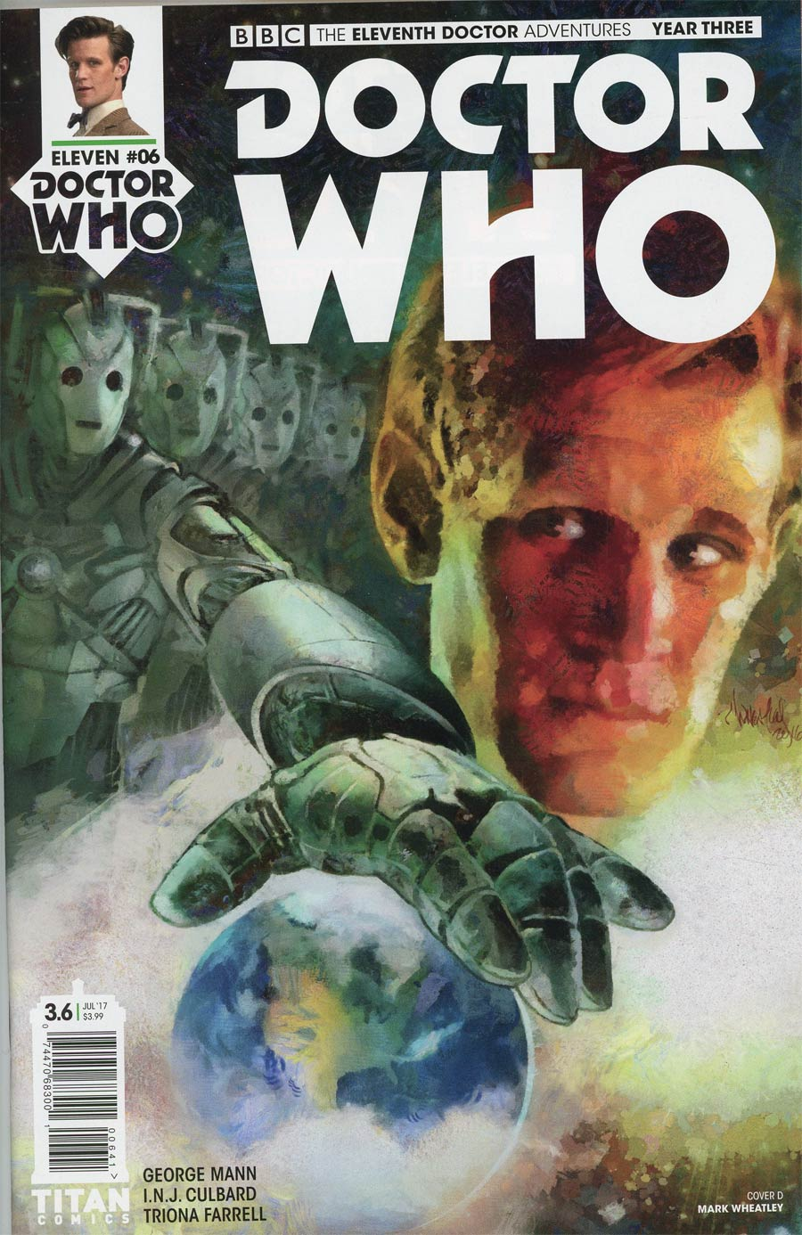 Doctor Who 11th Doctor Year Three #6 Cover D Variant Mark Wheatley Cover