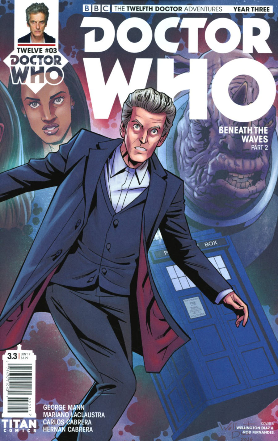 Doctor Who 12th Doctor Year Three #3 Cover A Regular Wellington Diaz Cover