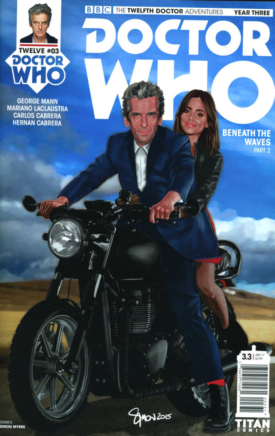 Doctor Who 12th Doctor Year Three #3 Cover C Variant Simon Myers Cover