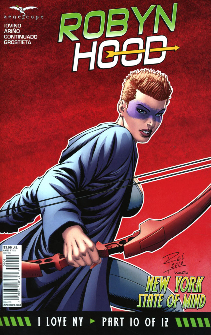 Grimm Fairy Tales Presents Robyn Hood I Love NY #10 Cover D Renato Rei
