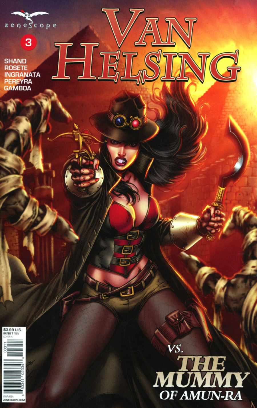 Grimm Fairy Tales Presents Van Helsing vs The Mummy Of Amun-Ra #3 Cover A Jose Luis