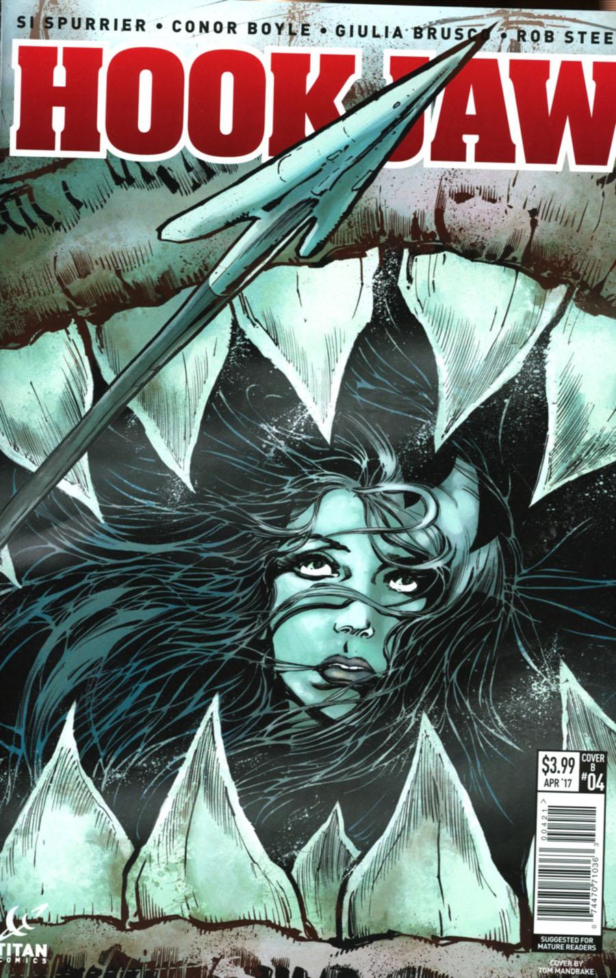 Hookjaw #4 Cover B Variant Tom Mandrake Cover