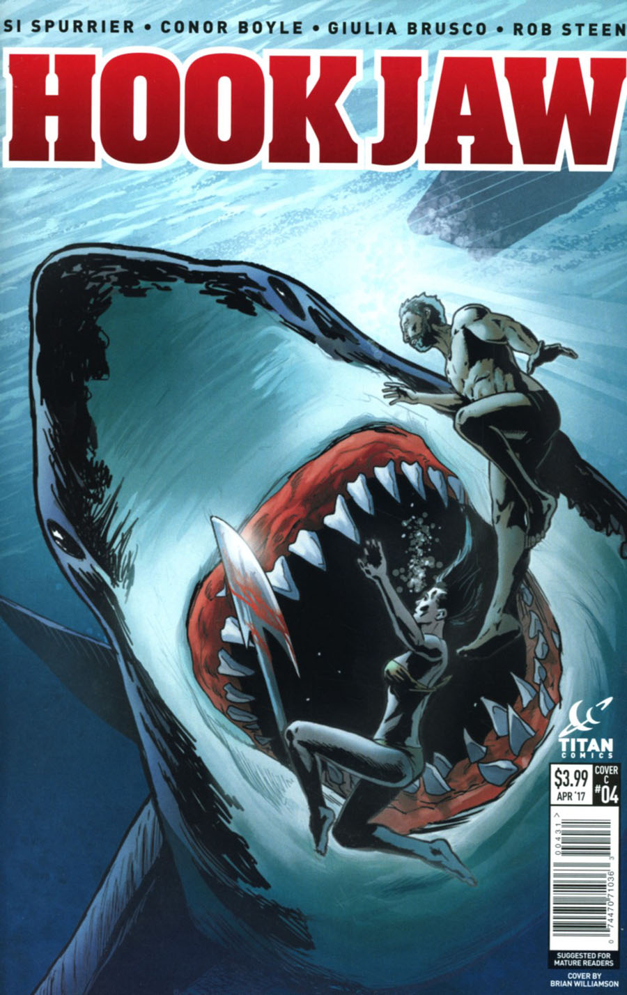 Hookjaw #4 Cover C Variant Brian Williamson Cover