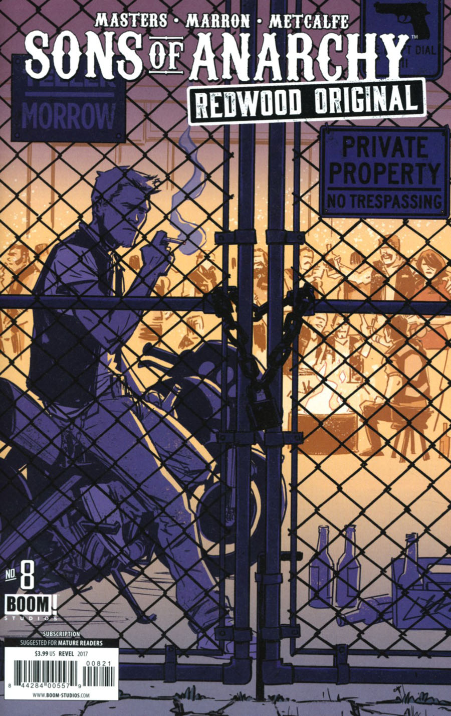 Sons Of Anarchy Redwood Original #8 Cover B Variant Brahm Revel Subscription Cover