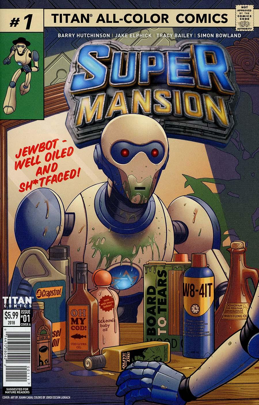 Supermansion #1 Cover A Regular Jake Elphick Cover