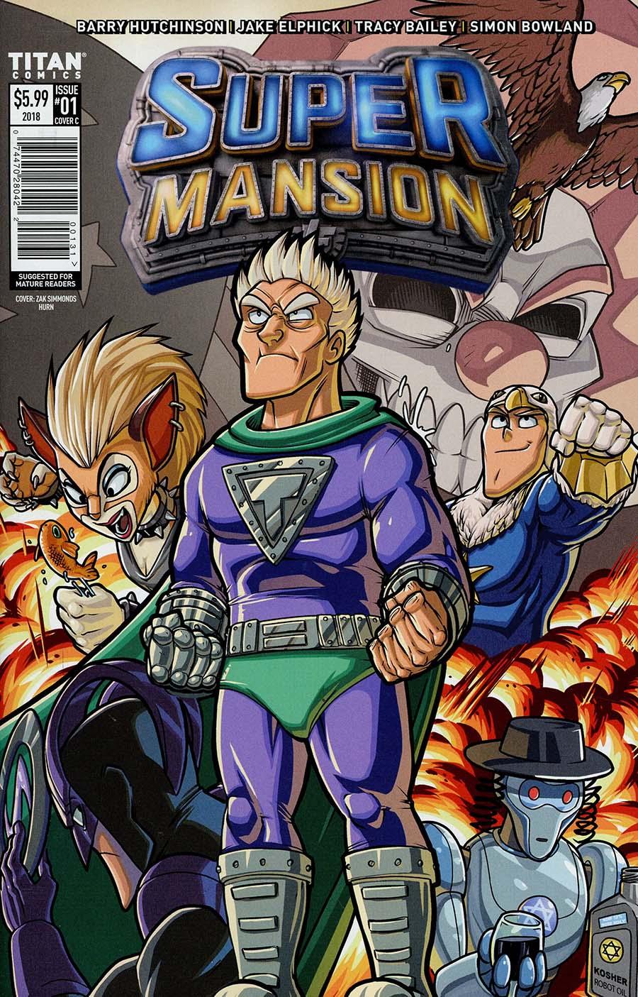 Supermansion #1 Cover C Variant Zak Simmonds Hurn Cover