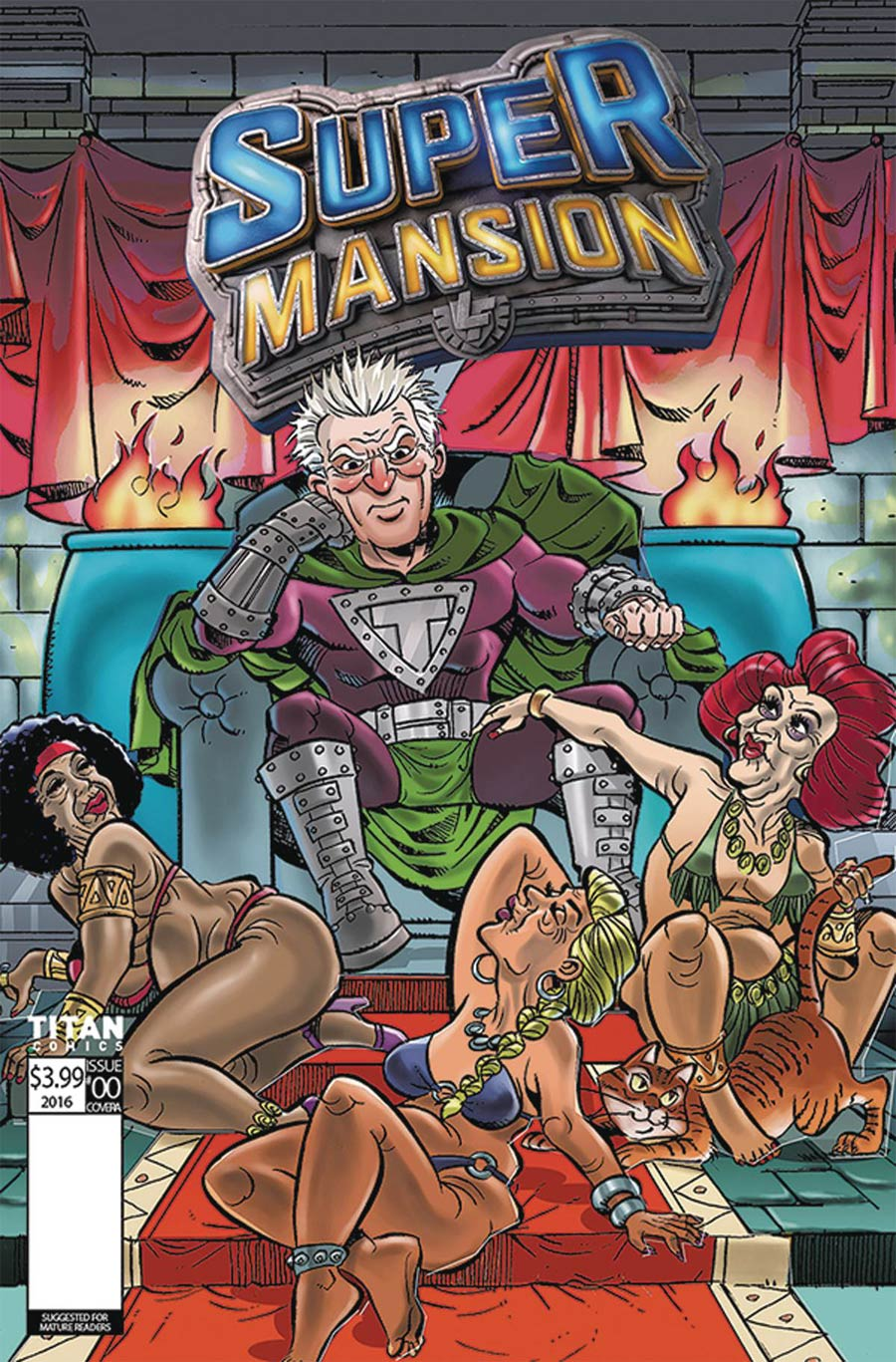 Supermansion #1 Cover D Variant Fernando Leon Cover