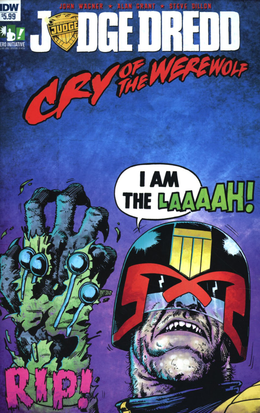 Judge Dredd Cry Of The Werewolf Cover A Regular Steve Dillon Cover