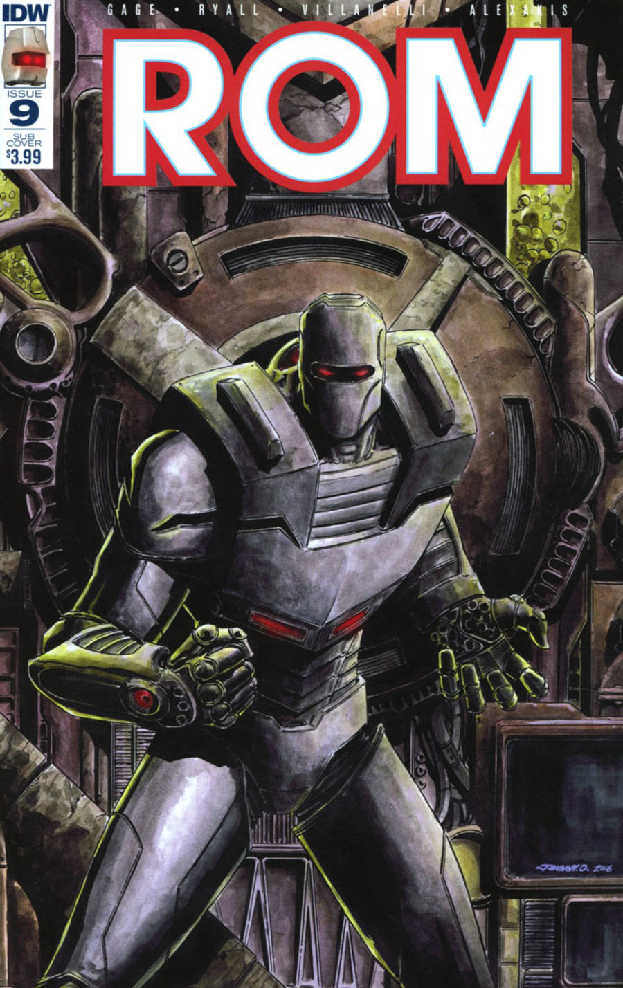 ROM Vol 2 #9 Cover C Variant Johnny Desjardins Subscription Cover