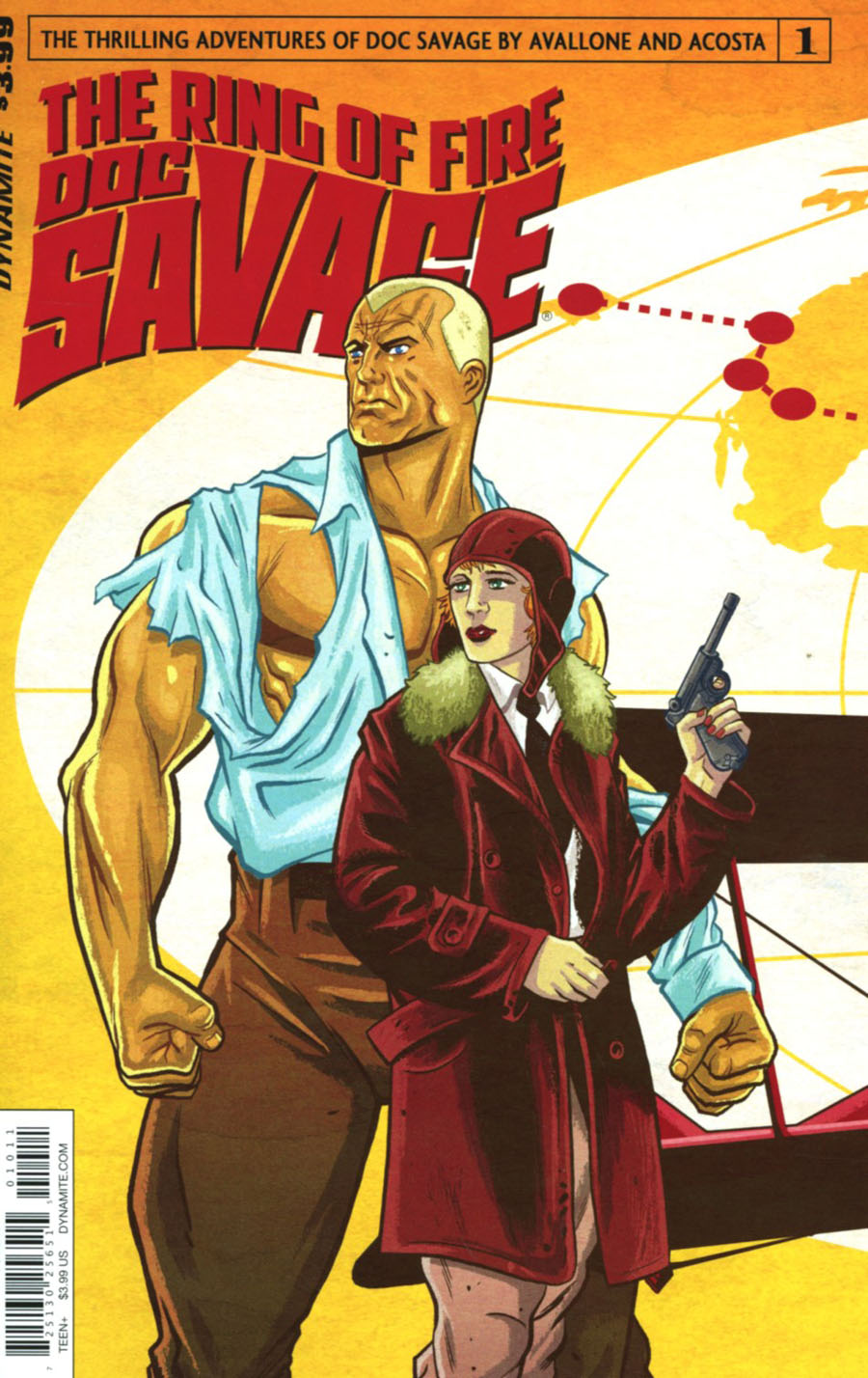 Doc Savage Ring Of Fire #1 Cover A Regular Brent Schoonover Cover