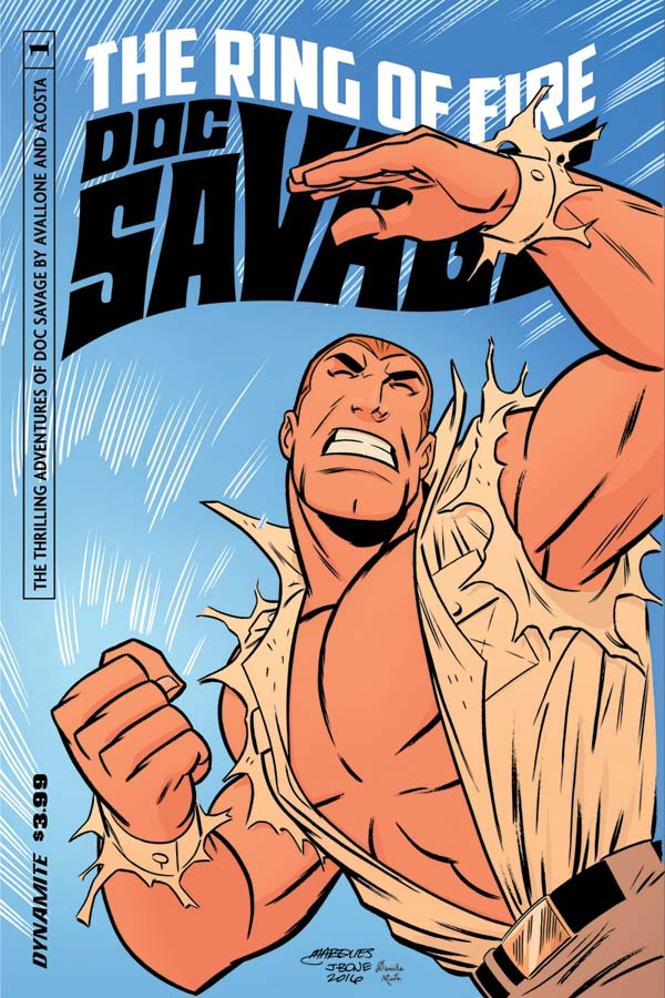 Doc Savage Ring Of Fire #1 Cover B Variant Anthony Marques Cover