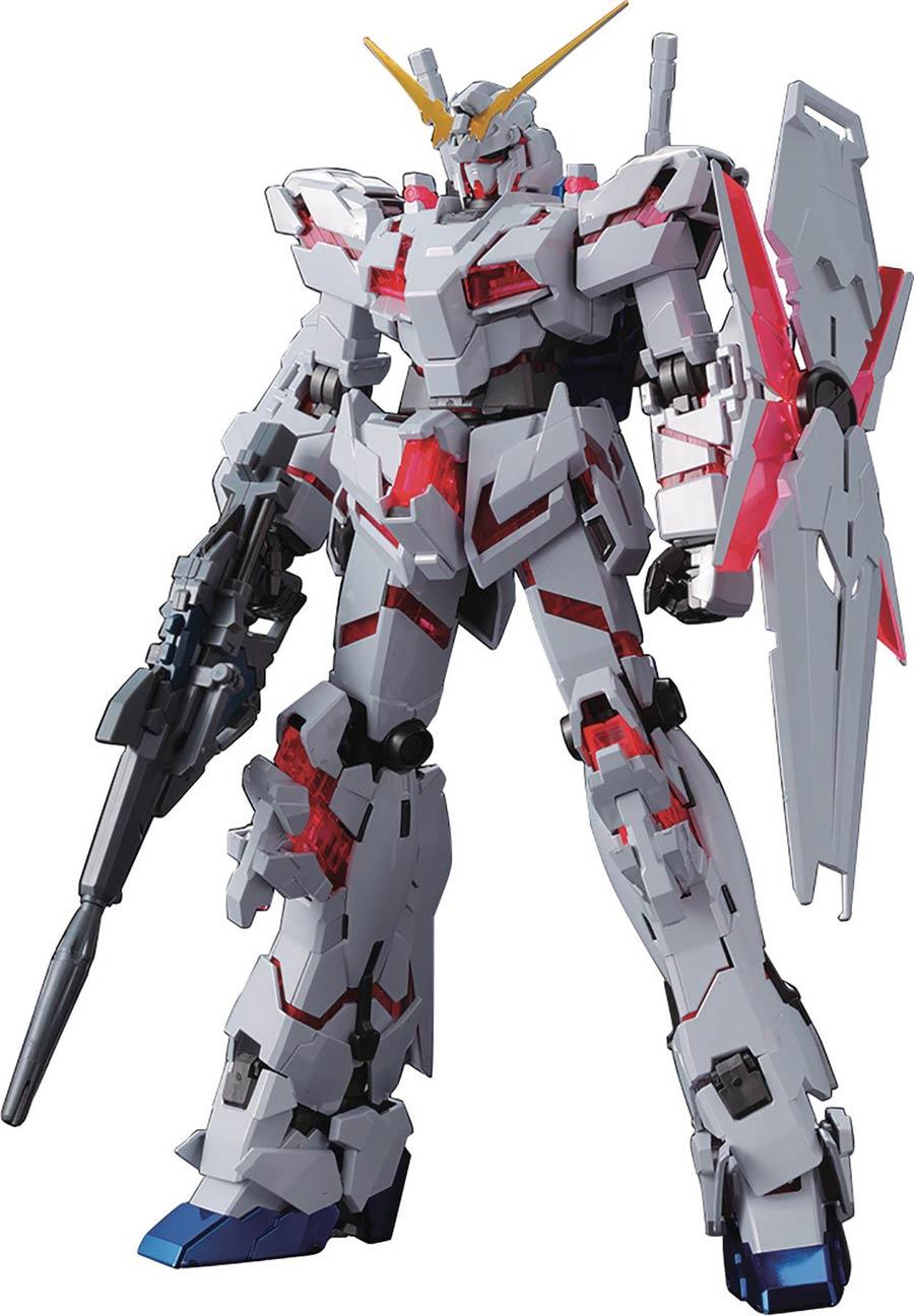 Gundam Master Grade 1/100 Kit -  Unicorn Gundam Red/Green Twin Frame Edition Titanium Finish