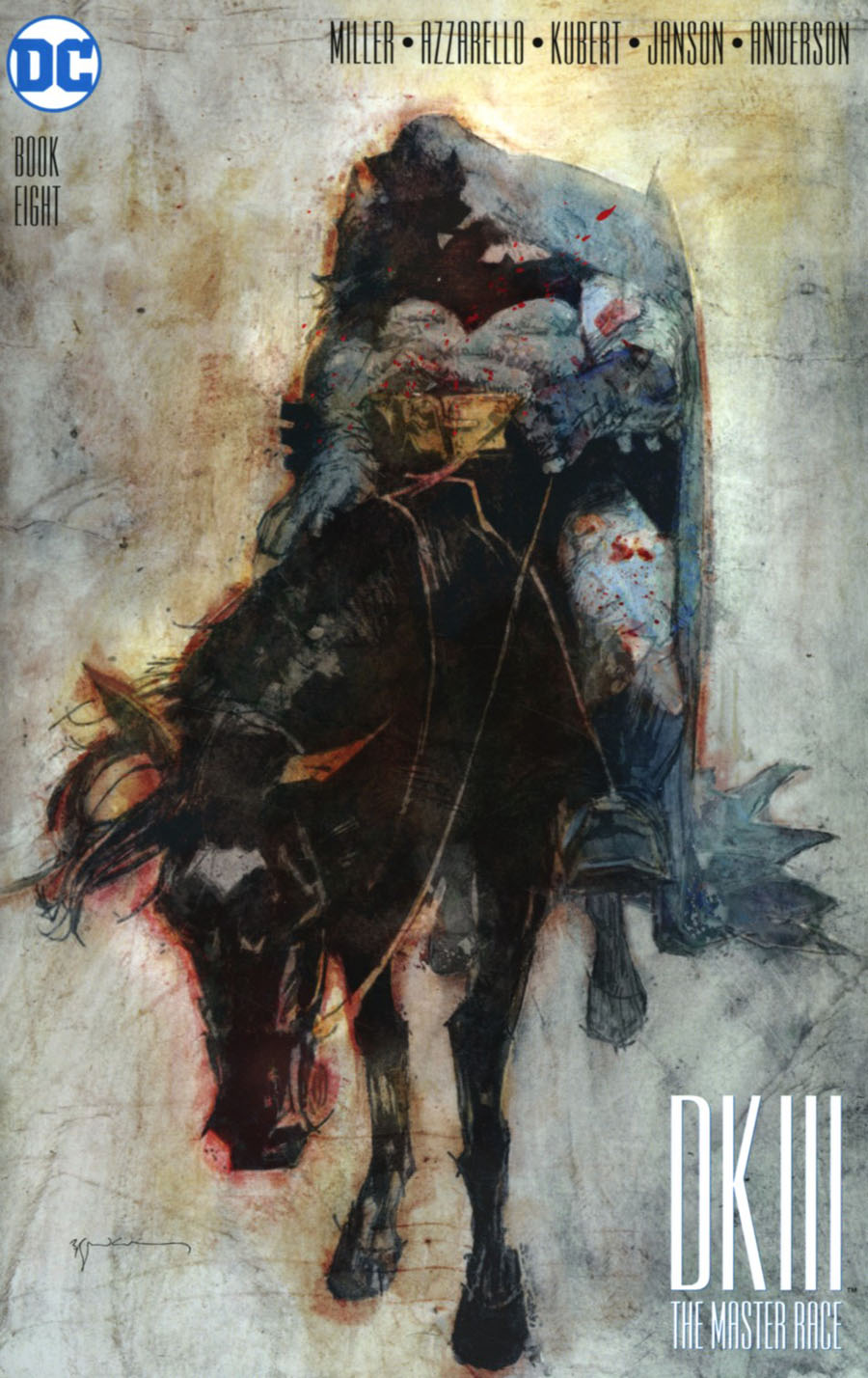 Dark Knight III The Master Race #8 Cover G Incentive Bill Sienkiewicz Variant Cover