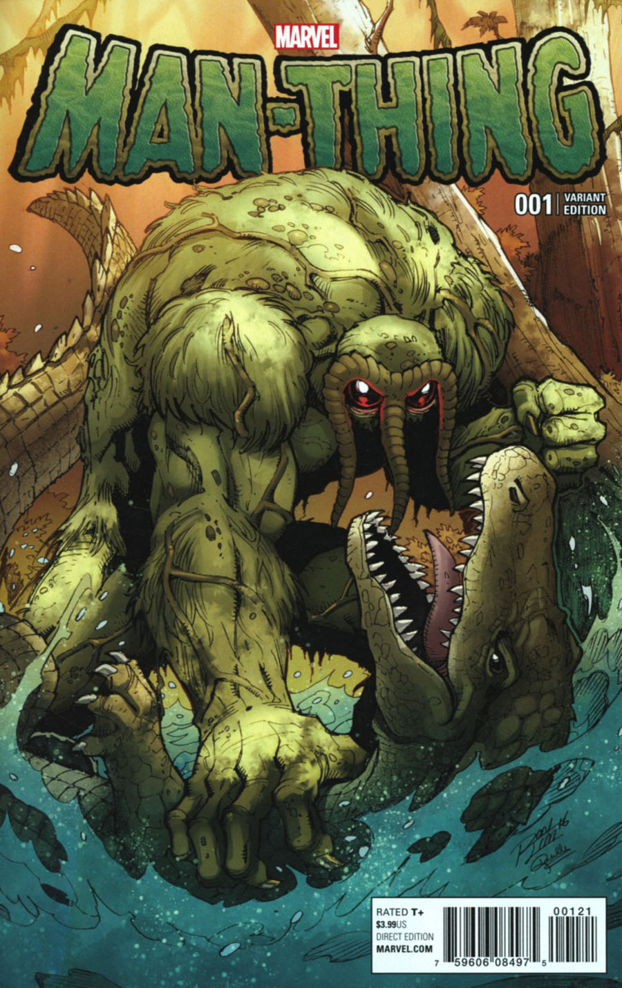 Man-Thing Vol 5 #1 Cover B Variant Ron Lim Man-Thing And The Marvel Universe Cover