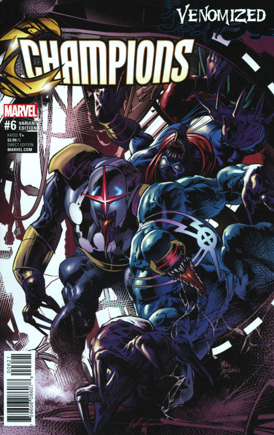 Champions (Marvel) Vol 2 #6 Cover B Variant Mike Deodato Jr Venomized Cover