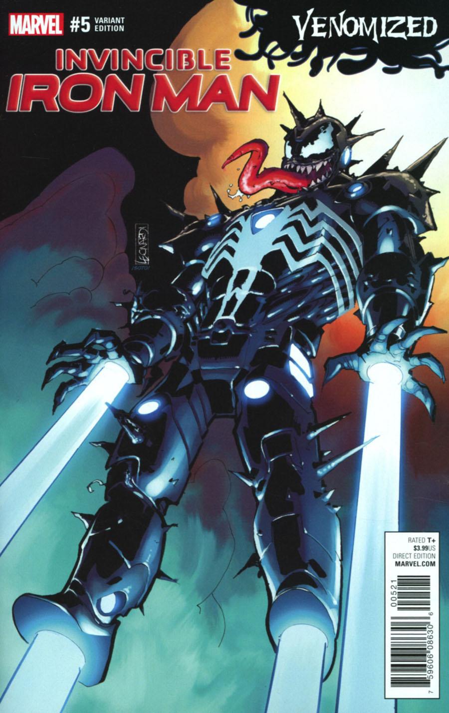 Invincible Iron Man Vol 3 #5 Cover B Variant Rick Leonardi Venomized Cover