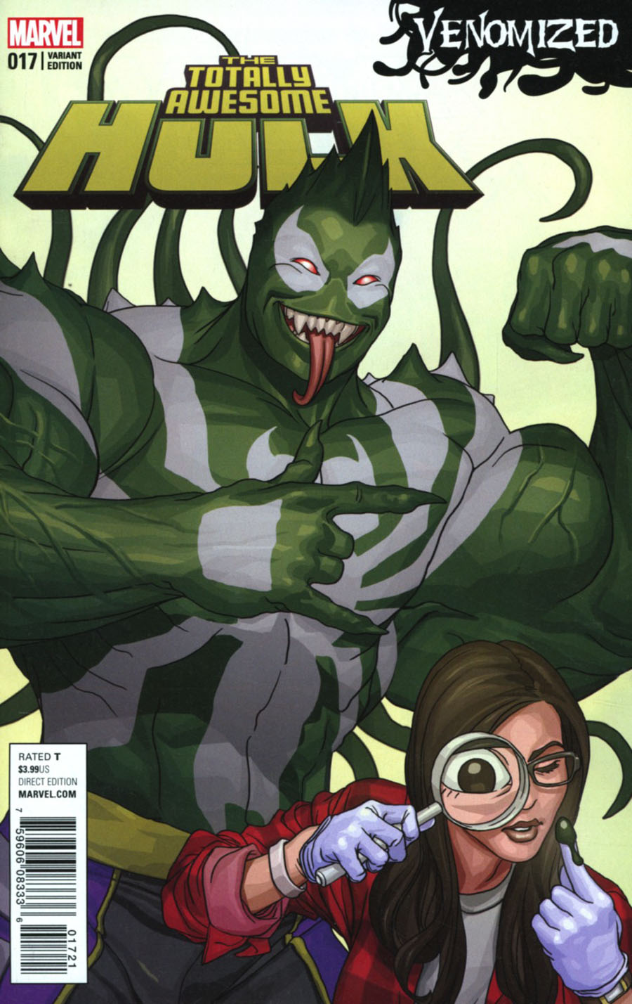 Totally Awesome Hulk #17 Cover B Variant Mike Choi Venomized Cover