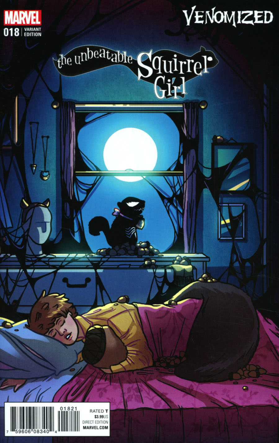 Unbeatable Squirrel Girl Vol 2 #18 Cover B Variant Kate Leth Venomized Cover