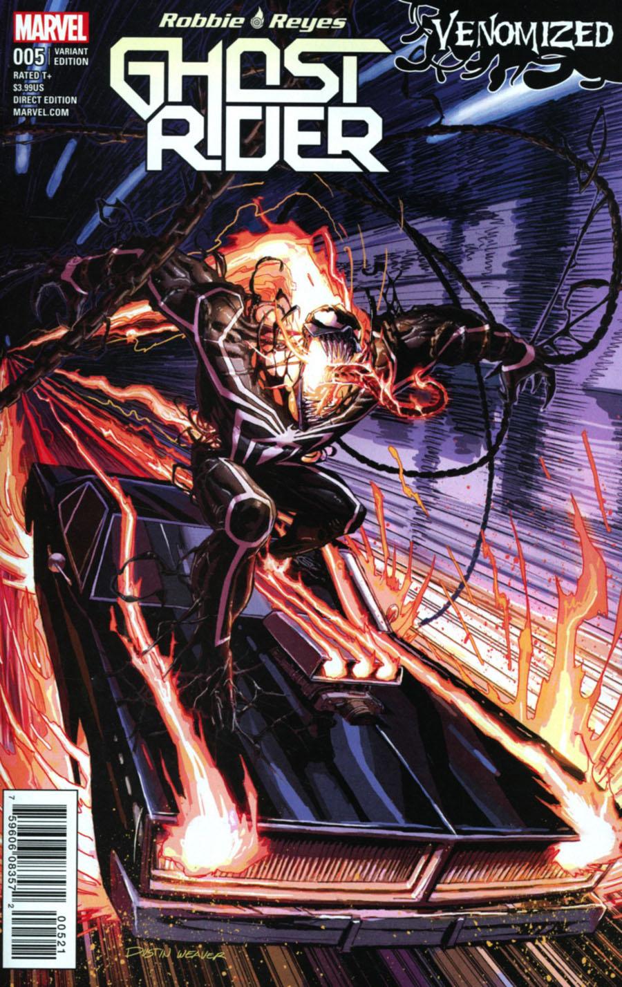 Ghost Rider Vol 7 #5 Cover B Variant Dustin Weaver Venomized Cover