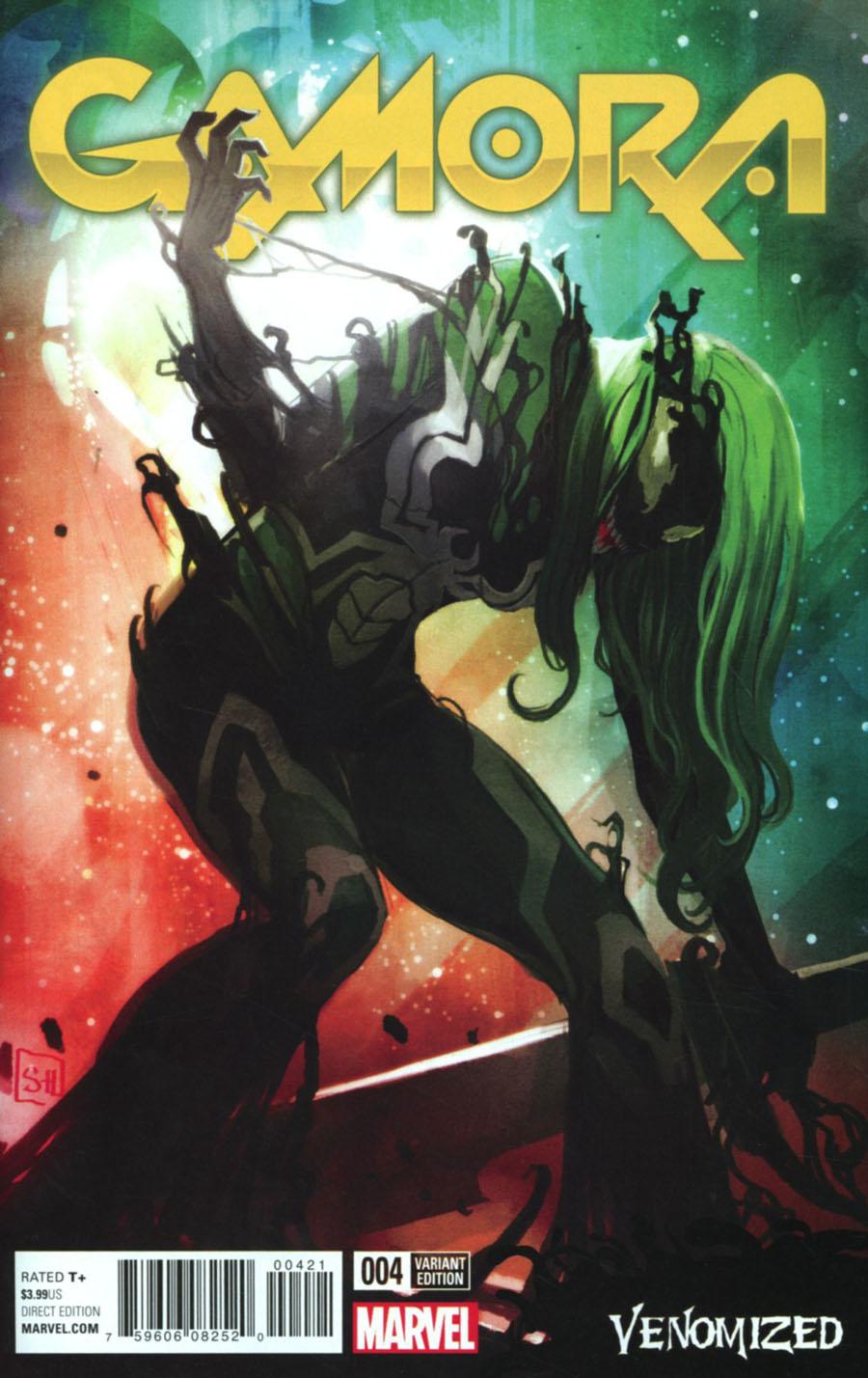 Gamora #4 Cover B Variant Stephanie Hans Venomized Cover