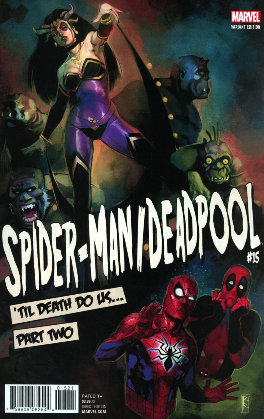 Spider-Man Deadpool #15 Cover B Variant Rod Reis Poster Cover (Til Death Do Us Part 2)