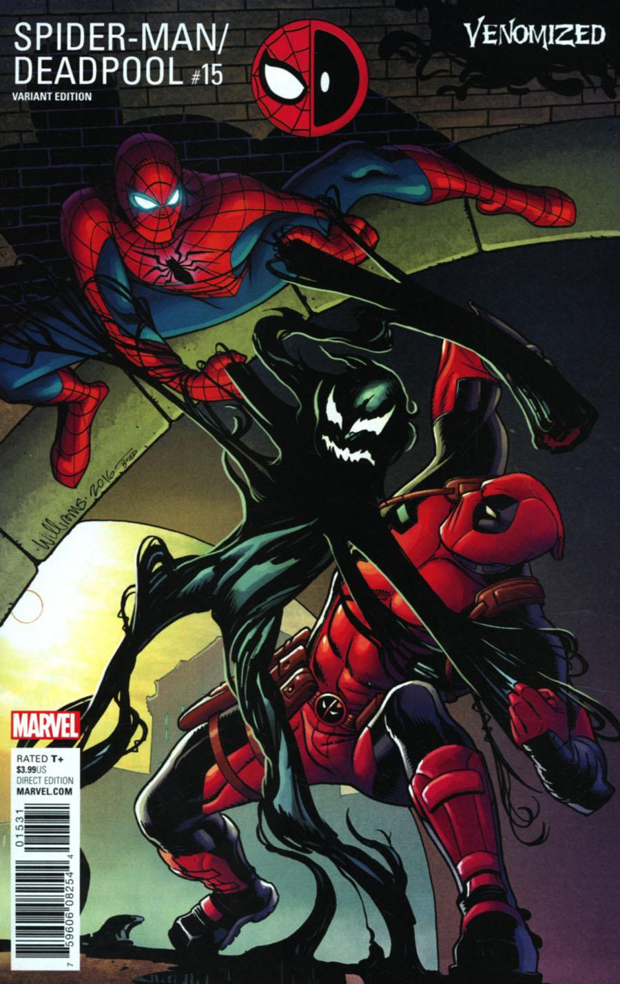 Spider-Man Deadpool #15 Cover C Variant Dave Williams Venomized Cover (Til Death Do Us Part 2)
