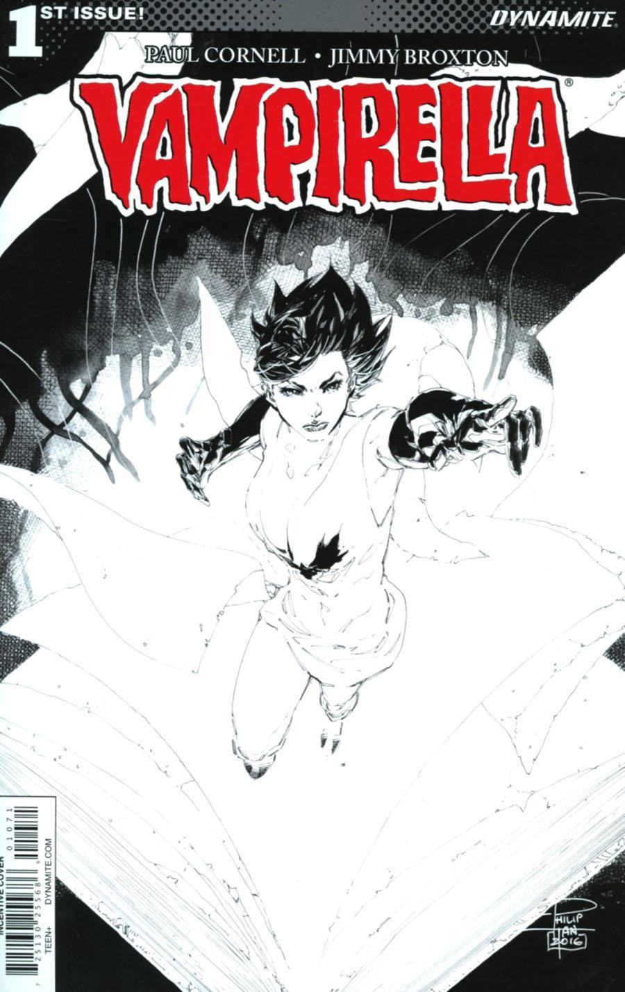 Vampirella Vol 7 #1 Cover G Incentive Philip Tan Black & White Cover
