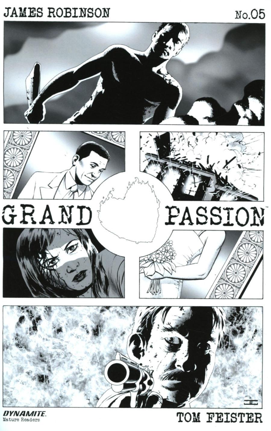 Grand Passion #5 Cover B Incentive John Cassaday Black & White Cover