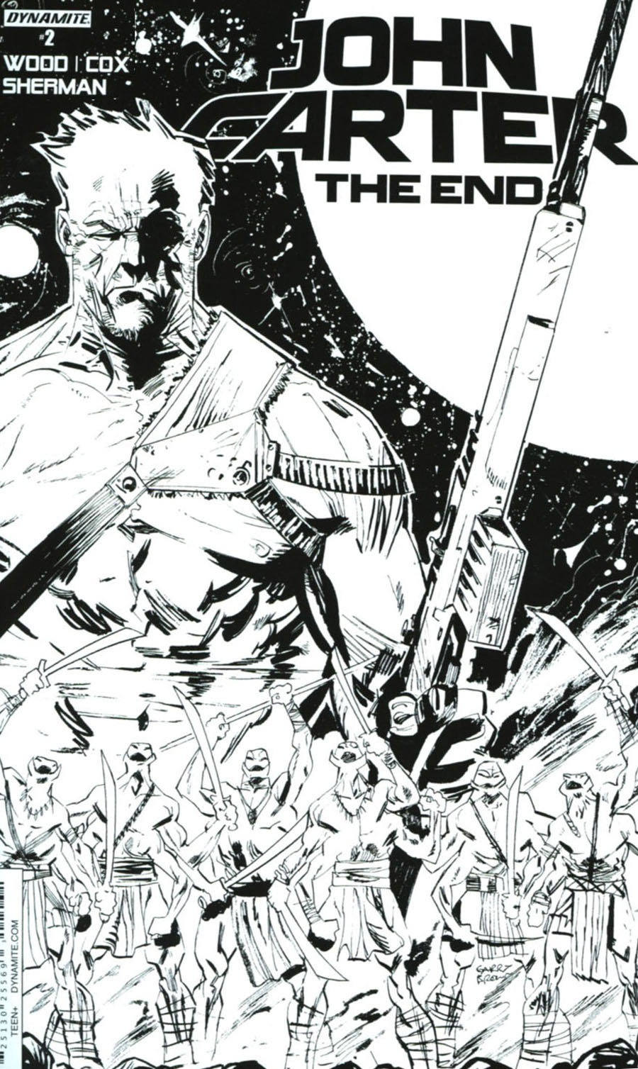 John Carter The End #2 Cover C Incentive Garry Brown Black & White Cover