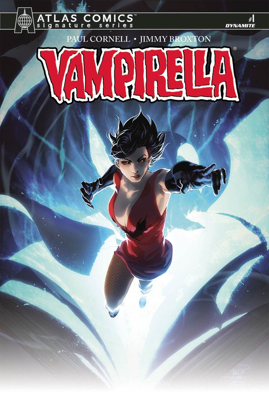 Vampirella Vol 7 #1 Cover L Atlas Comics Signature Series Signed By Philip Tan