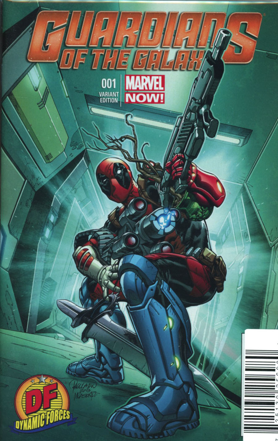 Guardians Of The Galaxy Vol 3 #1 Cover V DF Exclusive Carlo Pagulayan Deadpool Variant Cover Plus 2