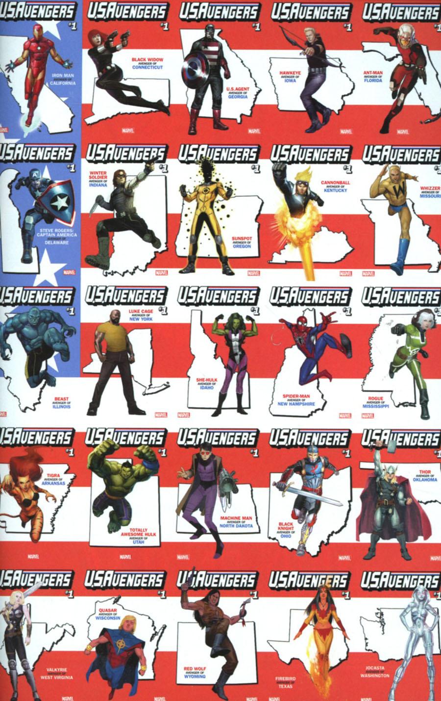 U.S.Avengers #1 Cover Z-Z-M Incentive Retailer Bonus Variant Cover
