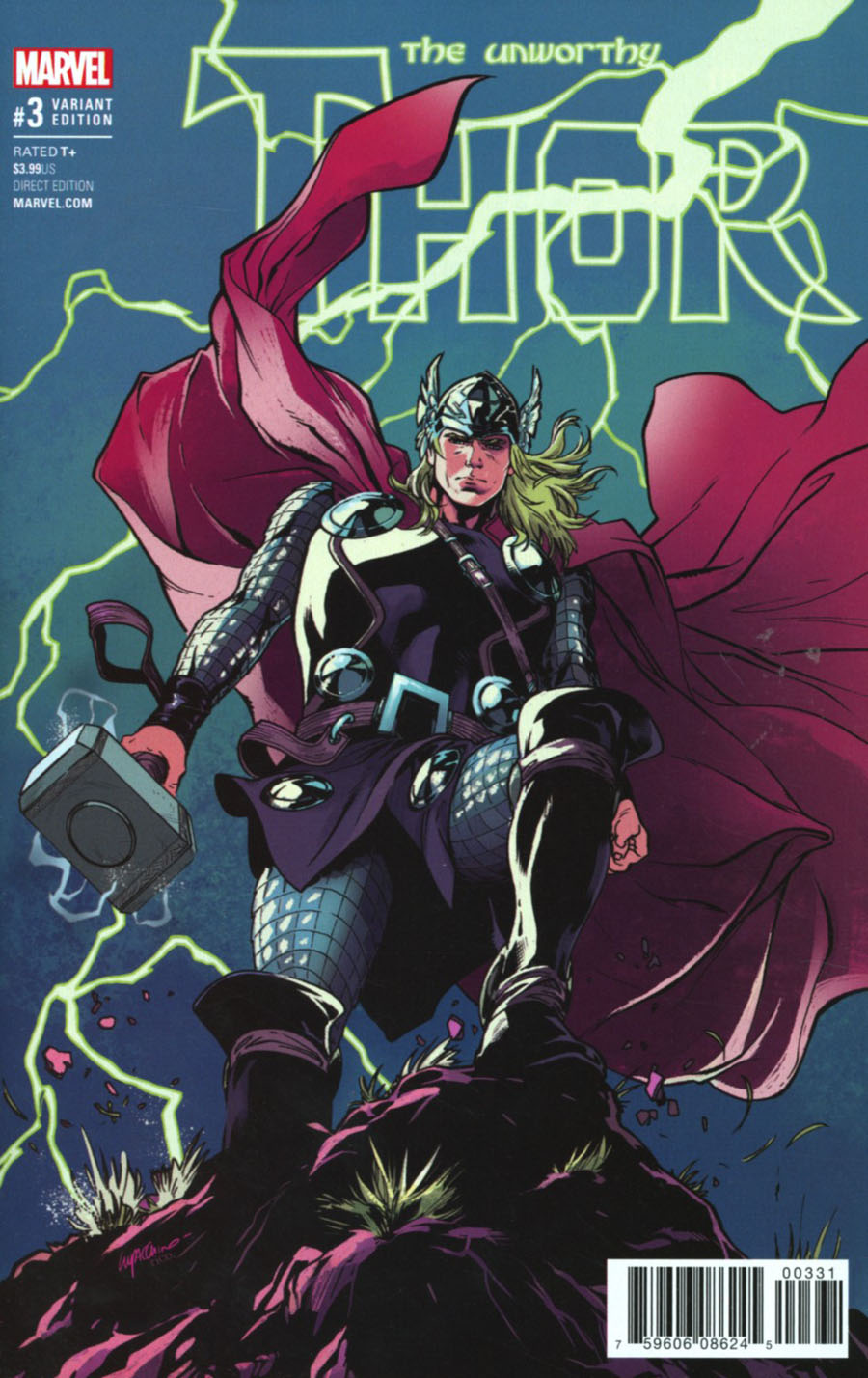 Unworthy Thor #3 Cover C Incentive Emanuela Lupacchino Variant Cover
