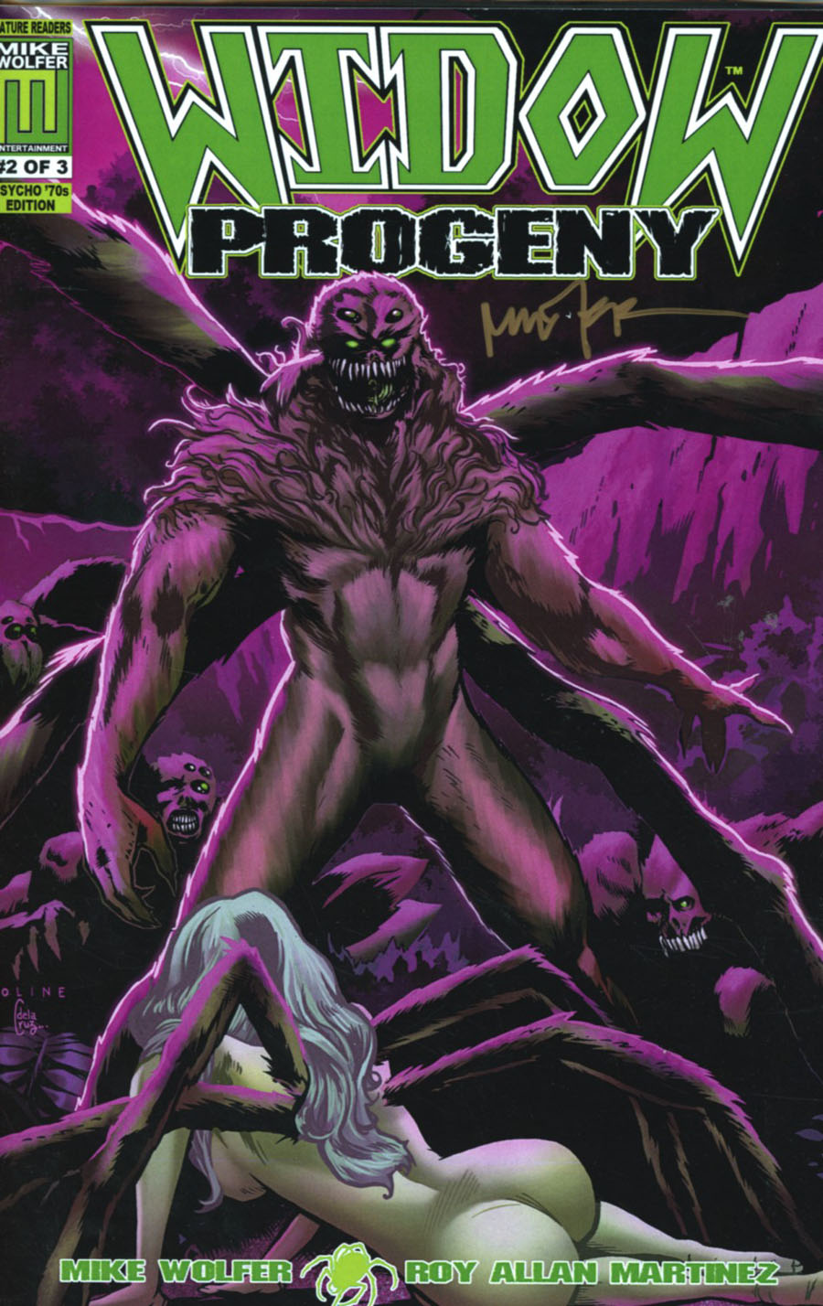 Widow Progeny #2 Cover B Variant Psycho 70s Cover Package