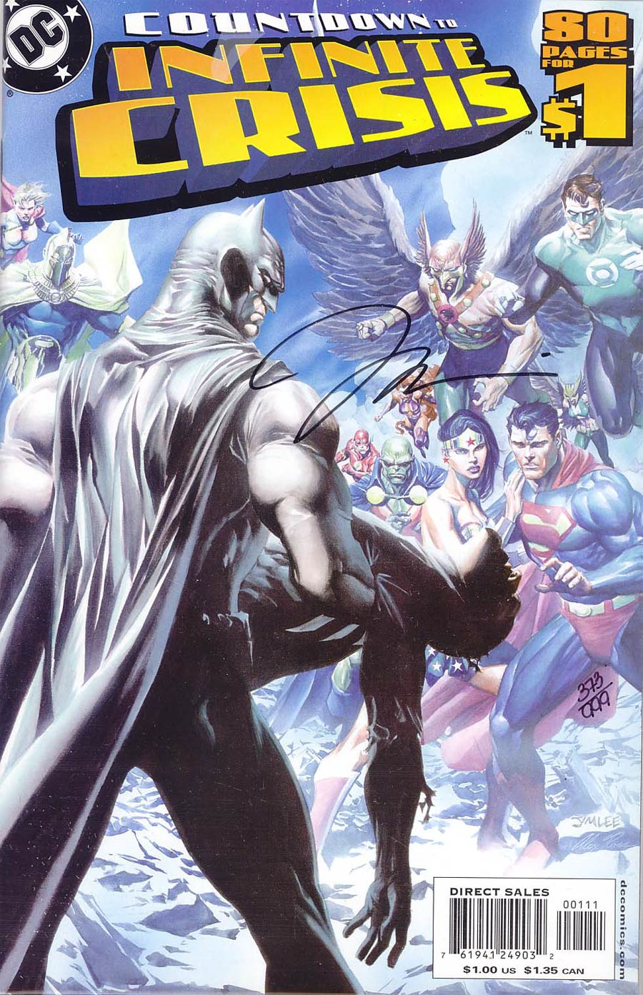 DC Countdown To Infinite Crisis #1 Cover F DF 1st Ptg Signed By Jim Lee