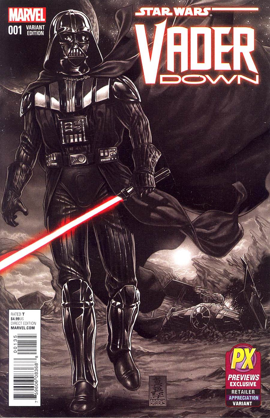 Star Wars Vader Down #1 Cover P Previews Exclusive Retailer Appreciation Variant Cover (Vader Down Part 1)
