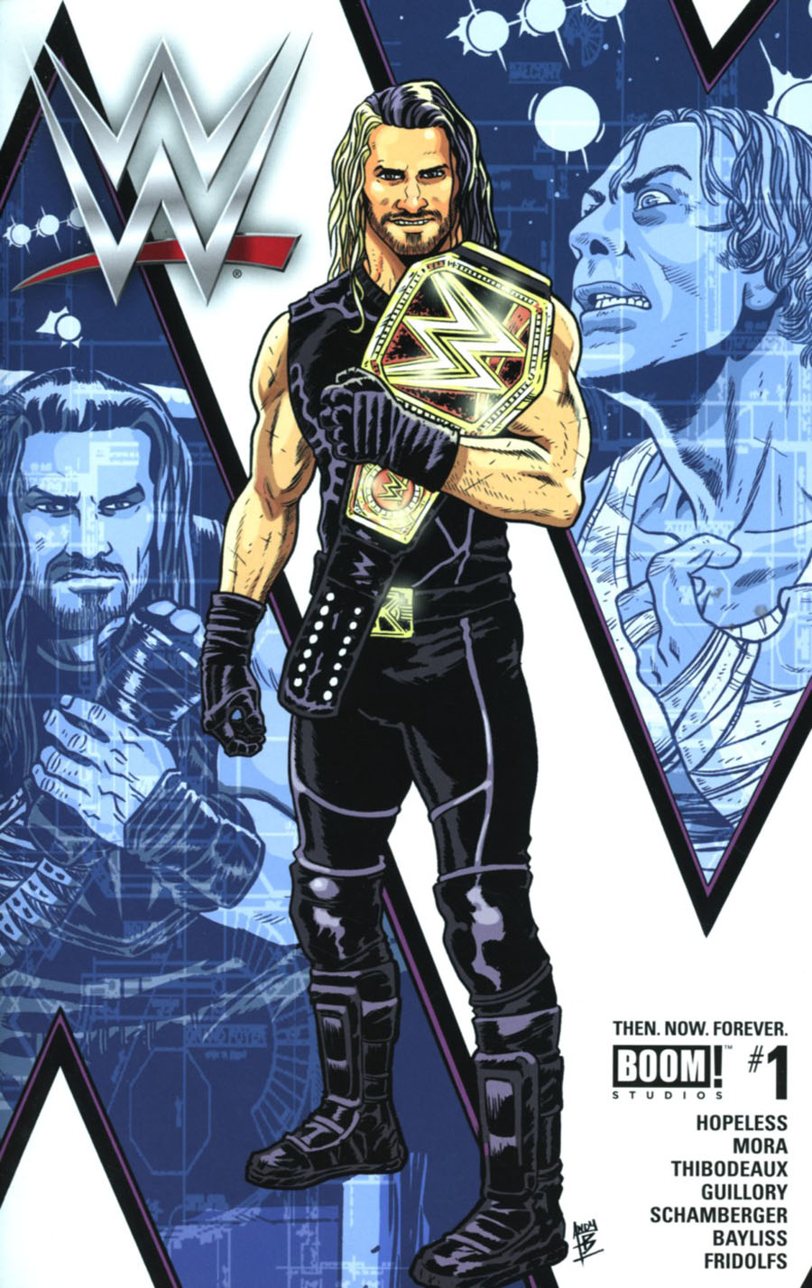 WWE Then Now Forever #1 Cover I 3rd Ptg Andy Belanger Variant Cover