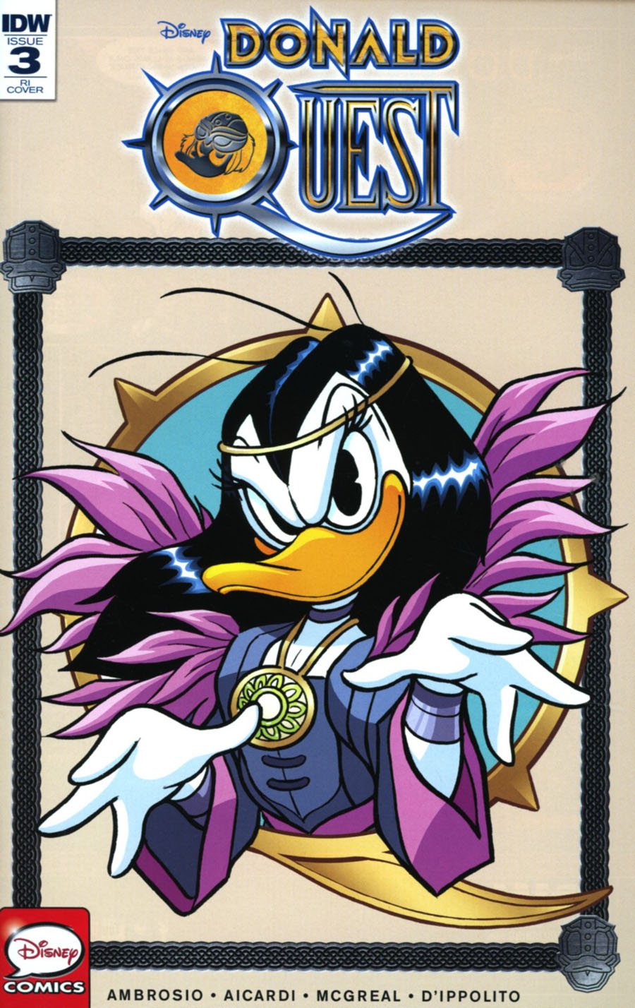 Donald Quest #3 Cover C Incentive Andrea Freccero Variant Cover