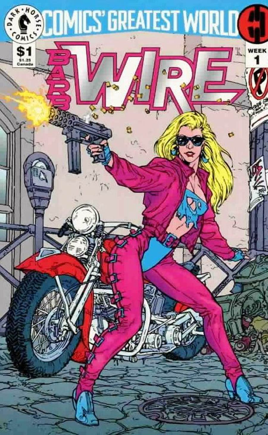 Comics Greatest World Steel Harbor Week #1 Barb Wire Cover A