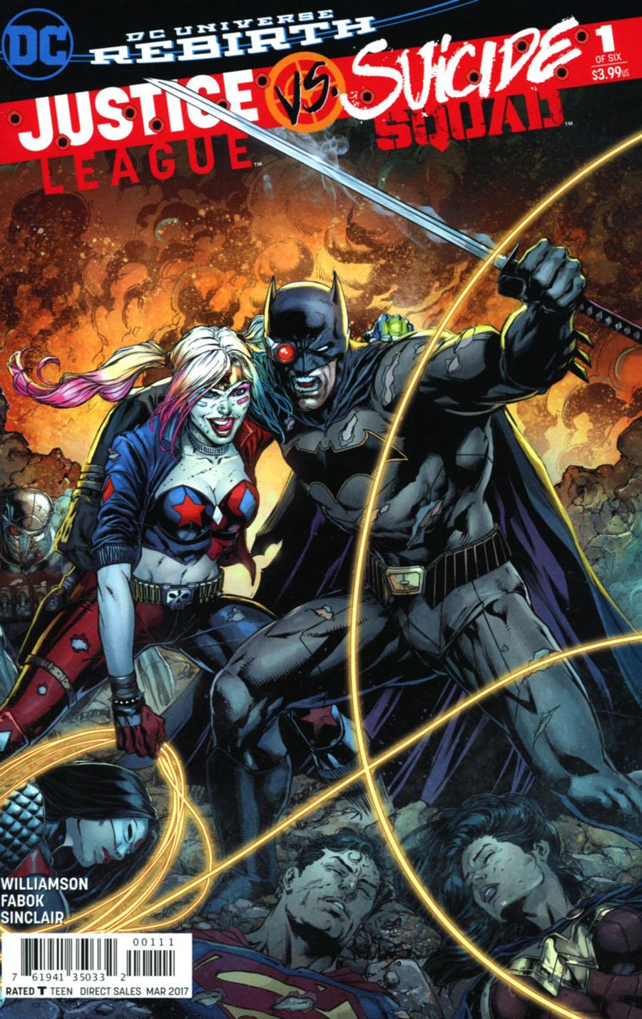 Justice League vs Suicide Squad #1 Cover J 2nd Ptg Jason Fabok Variant Cover