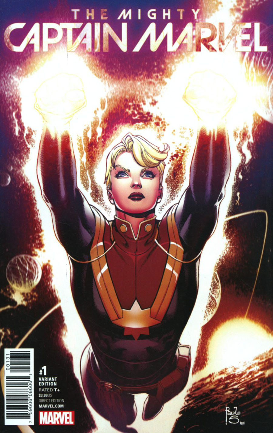 Mighty Captain Marvel #1 Cover D Incentive Paulo Siqueira Variant Cover (Marvel Now Tie-In)