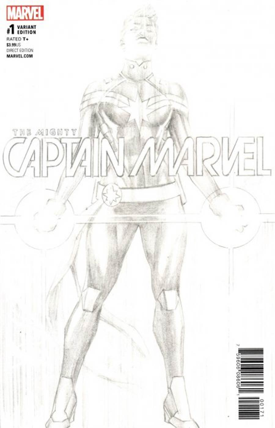 Mighty Captain Marvel #1 Cover F Incentive Retailer Bonus Variant Cover (Marvel Now Tie-In)