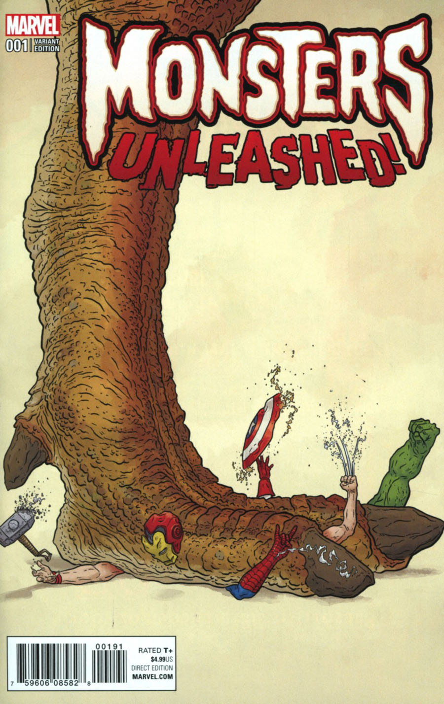 Monsters Unleashed #1 Cover I Incentive Geof Darrow Teaser Variant Cover