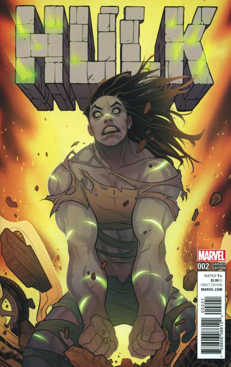 Hulk Vol 4 #2 Cover B Incentive Elizabeth Torque Variant Cover