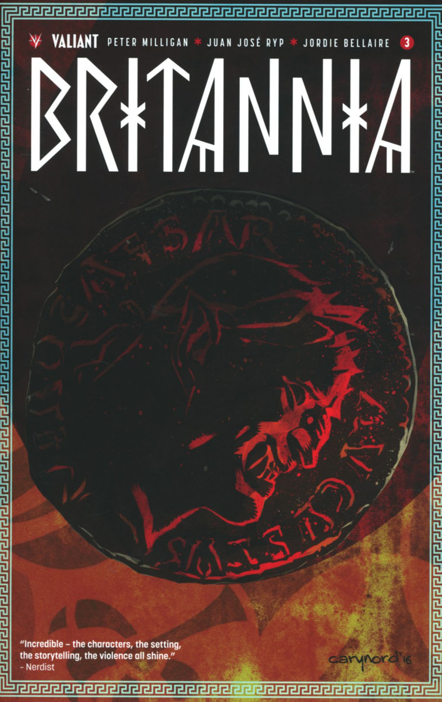 Britannia #3 Cover F 2nd Ptg Cary Nord Variant Cover