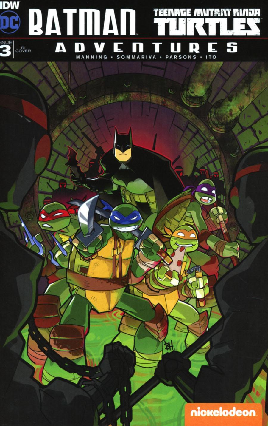 Batman Teenage Mutant Ninja Turtles Adventures #3 Cover C Incentive Ben Harvey Variant Cover